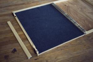 folding palette, installing glass 03