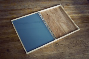 folding palette, installing glass 05