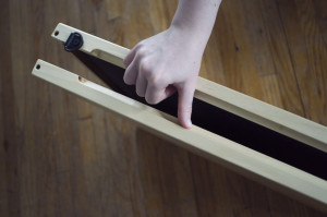 folding palette, one hand opening technique 02